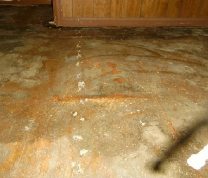 Water Heater Leak in Tiffin Home Before